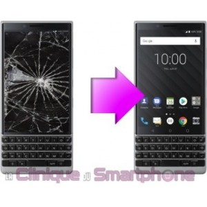 Remplacement Vitre tactile + Ecran LCD Blackberry Key Two Lite