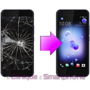 Remplacement Vitre tactile + Ecran LCD HTC U11 Life