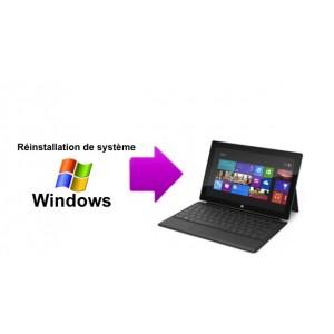 Réinstallation de Système (Windows) pour Microsoft Surface