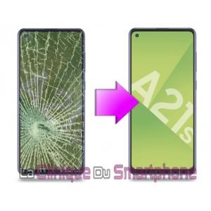 Remplacement Vitre tactile + Ecran Amoled Samsung Galaxy A21S (A217F)