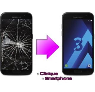 Remplacement Vitre tactile + Ecran LCD Samsung Galaxy A3 (2017)
