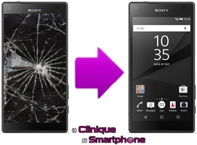 Changement Vitre Tactile + Ecran LCD Sony Xperia X Compact