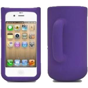 "Coque silicone ""MUG"" iPhone 4/4S"