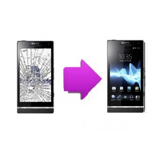 Changement LCD + vitre tactile Sony Xperia S