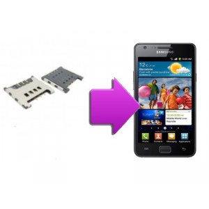 Changement lecteur SIM  SAMSUNG Galaxy S2 - I9100