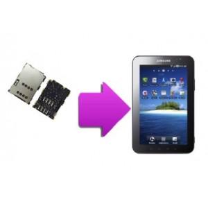 Forfait réparation lecteur SIM SAMSUNG Galaxy tab 7''  P1000
