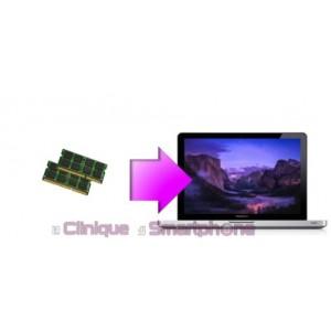 Remplacement mémoire vive (RAM) MacBook Pro 13'', 15'' ou 17'' à partir de: