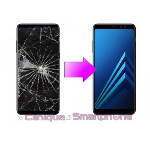 Remplacement Vitre Tactile + Ecran LCD Samsung Galaxy A8+ (2018) A730